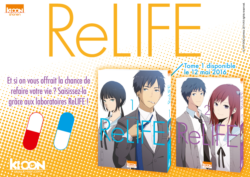 Les Mang'actus ! ReLIFE_annonce