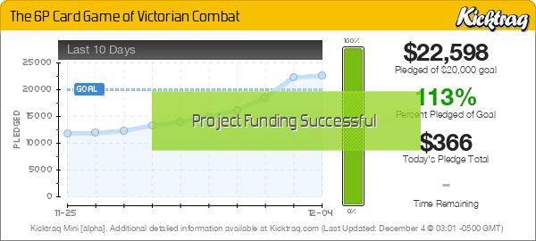 Kickstarter: The 6P Card Game of Victorian Combat Minichart