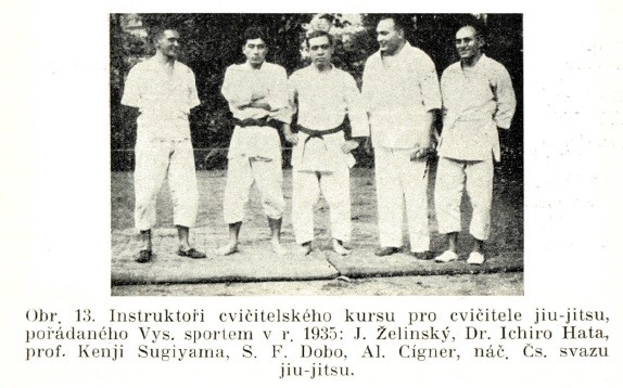 Jigoro Kano and his 3 visits Prague ( November 1912, September 1920, September 1936 ) 19351027Dobo_fsdobo_hatasugijama