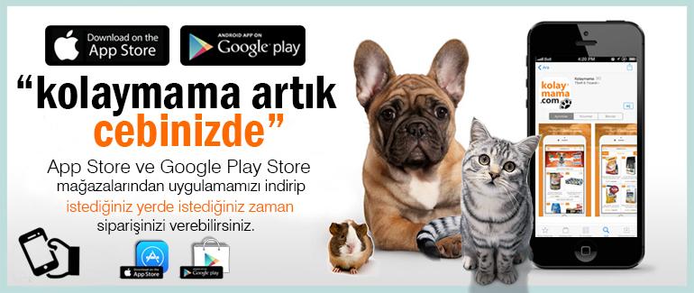 Evcil hayvan ürünleri satış sitesi - Kolaymama.com Appstorebanner