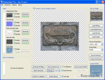 Полезные программы - Страница 3 1246045148_shadermap_pro_interface