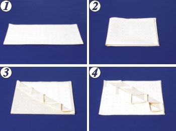 طريقة لف مناديل الطاولة روووعة S15a