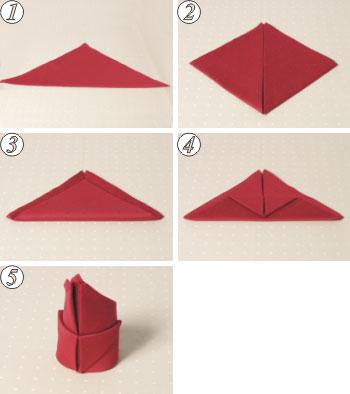 طريقة لف مناديل الطاولة روووعة S30a
