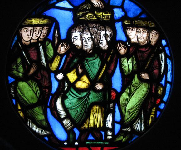 Les vitraux  du XIIIéme siècle . StDenis-3group-580