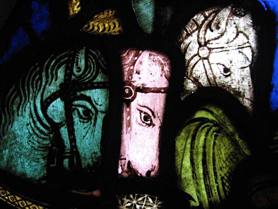 Les vitraux  du XIIIéme siècle . Horses-CU-400