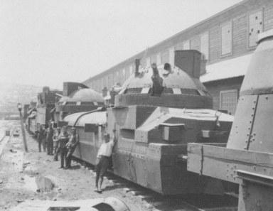 les trains blindés Tschechische-legion