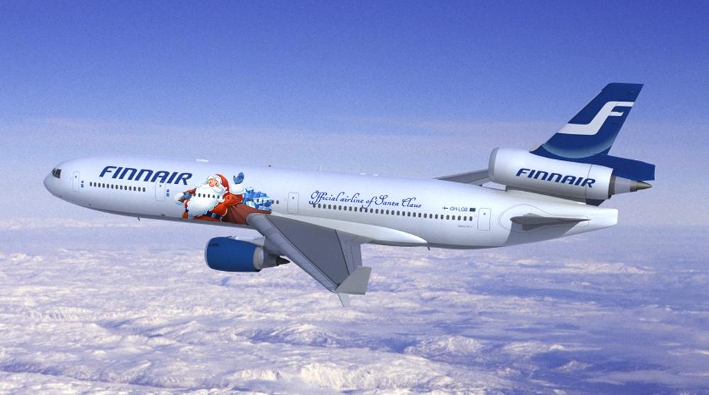 Merry Christmas to all Shania fans FinnairMD-11SantaClaus