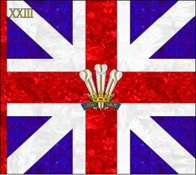 Couleurs des tambours britanniques  23rd_Foot_King_Colour