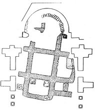 Cruz Enkolpio bizantina Virgen PLATYTERA con los peces Sv_s171