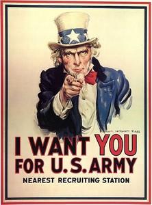 لماذا يقولون على أمريكا بلاد العم سام  445px-Unclesamwantyou-222x300