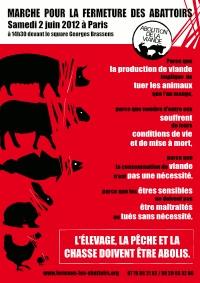 L214 émission ARTÈ à voir 27MARS Marche-fermeture-abattoirs-2012