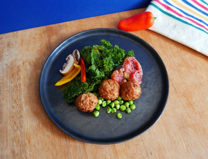Pour les carnivores la boucherie végétale Boulettes-effet-boeuf