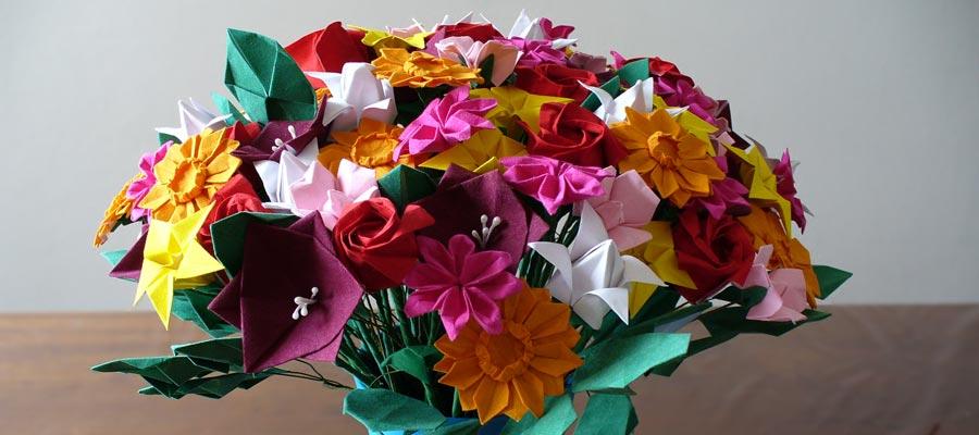 Câlins gratuit  Origami-fleur