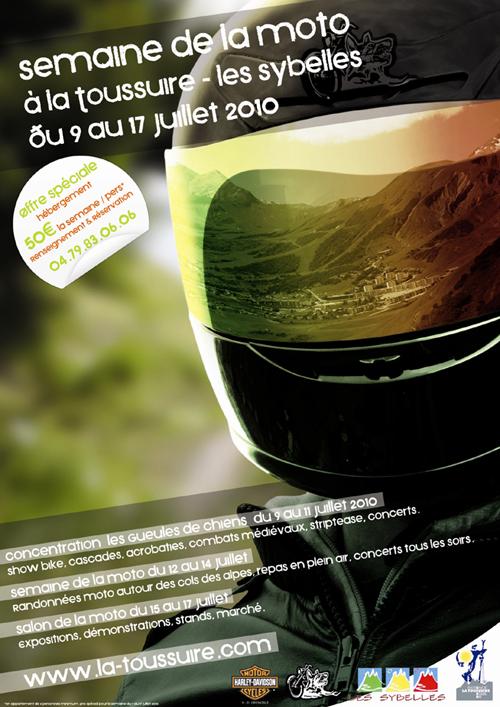 Semaine moto à La Toussuire du 9 au 17 juillet Affiche_gdchien