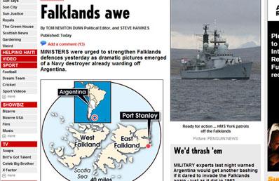 Llega a las Malvinas la plataforma y la prensa británica prevé una escalada en la crisis 0322054B