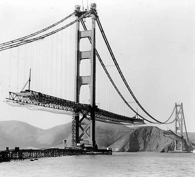Grandes estructuras históricas en construcción Construction-Golden-Gate-Bridge-20