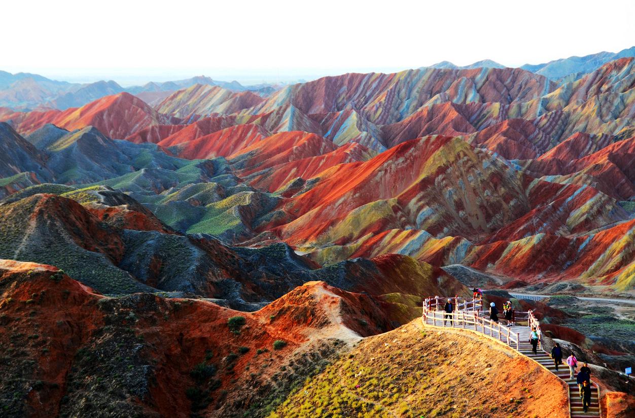 22 paisajes asombrosos. Zhangye-Danxia-Landform-01