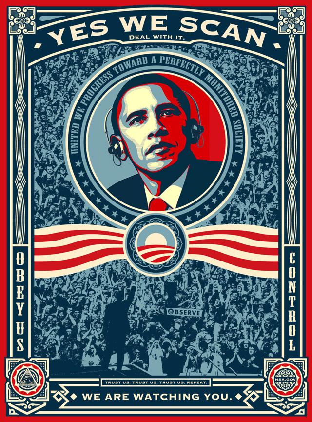 Etats - Est-il possible de réformer la NSA ? Obama-yes-we-scan