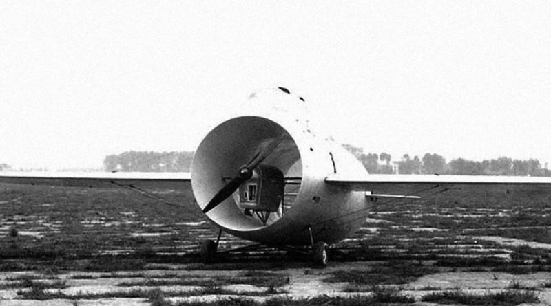 Le Stipa-Caproni : un avion tonneau précurseur du moteur à réaction ! Stipa-caproni-avion-italie-03-800x445