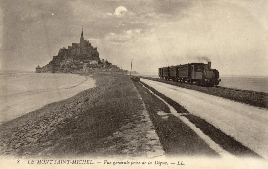 Le Mont Saint michel à l'époque du train à vapeur Train-vapeur-mont-saint-michel-01-1080x682