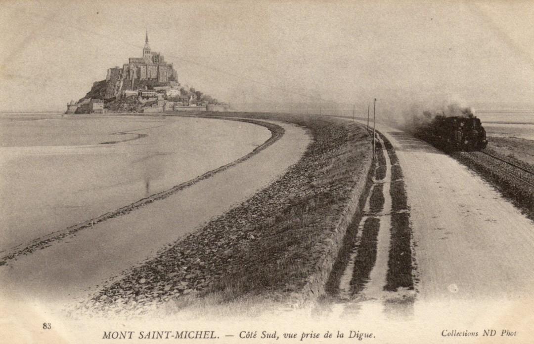 Le Mont Saint michel à l'époque du train à vapeur Train-vapeur-mont-saint-michel-02-1080x697