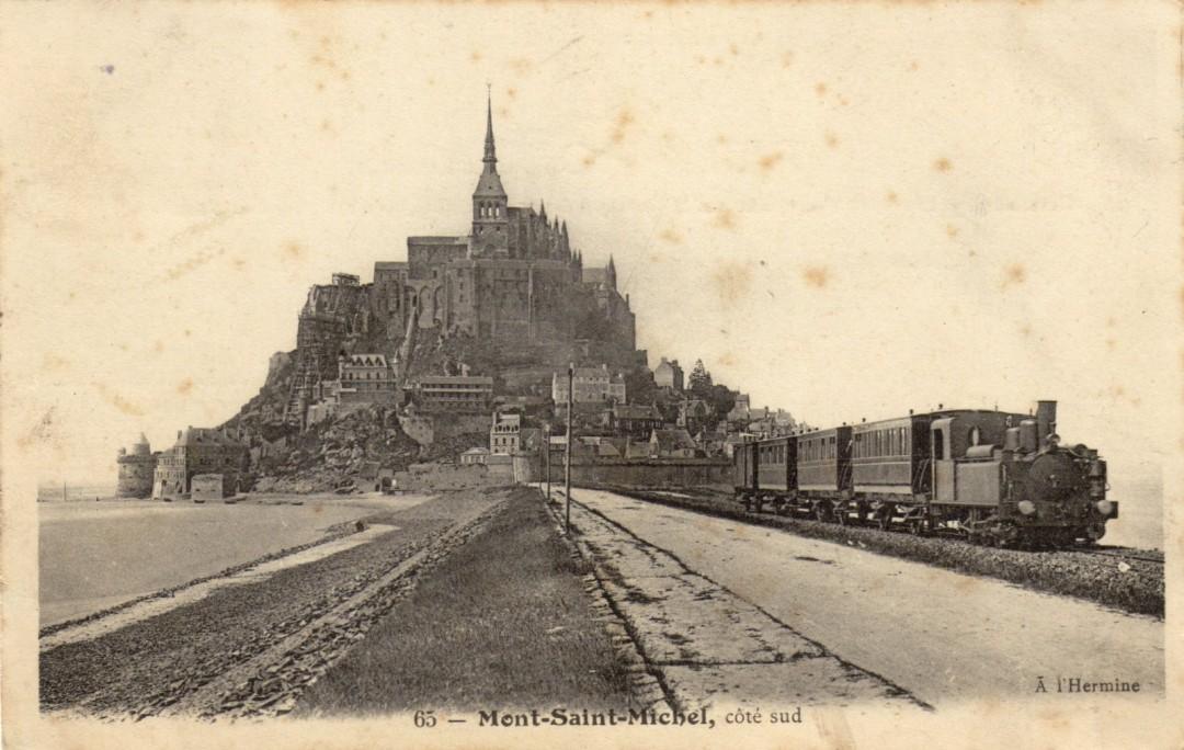 Le Mont Saint michel à l'époque du train à vapeur Train-vapeur-mont-saint-michel-05-1080x684