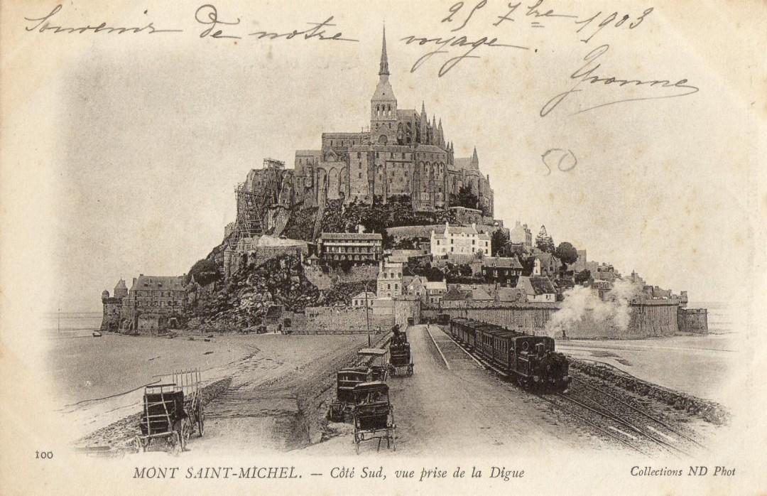 Le Mont Saint michel à l'époque du train à vapeur Train-vapeur-mont-saint-michel-07-1080x698