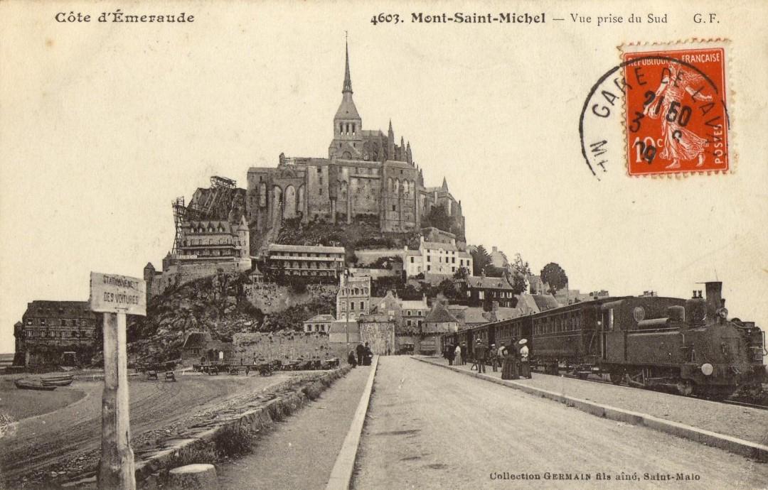 Le Mont Saint michel à l'époque du train à vapeur Train-vapeur-mont-saint-michel-08-1080x690
