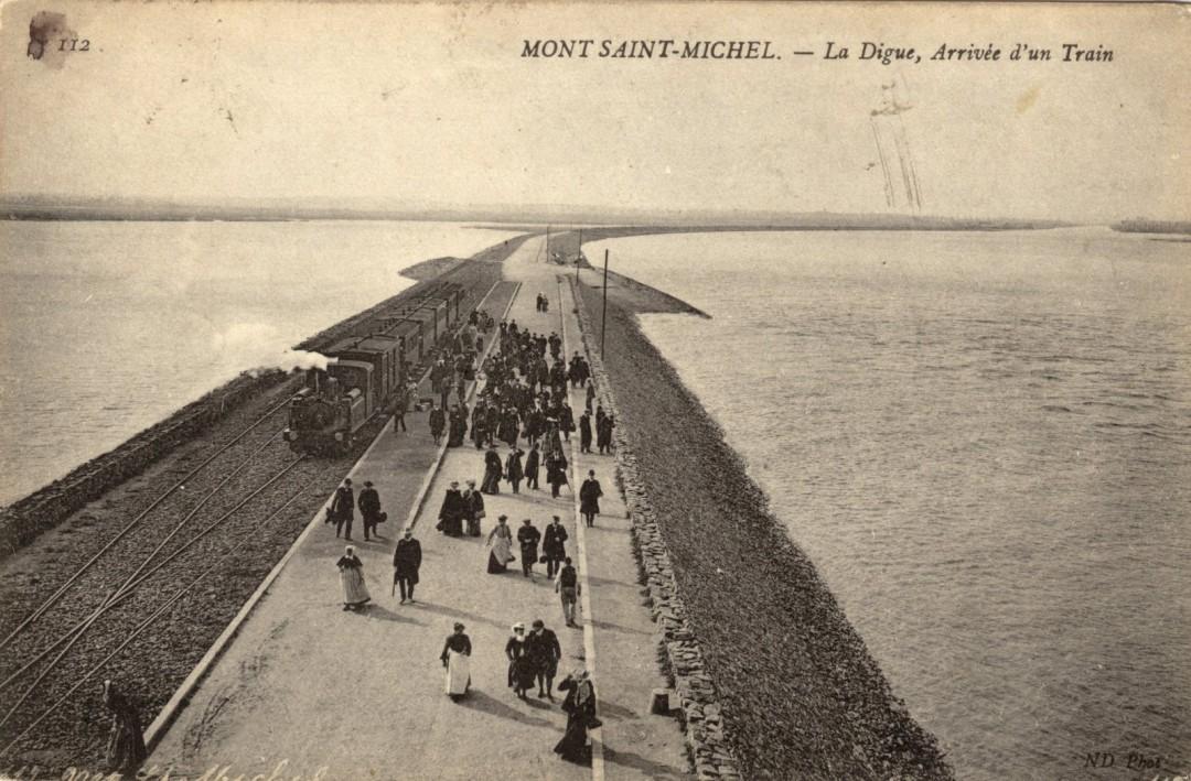 Le Mont Saint michel à l'époque du train à vapeur Train-vapeur-mont-saint-michel-13-1080x709
