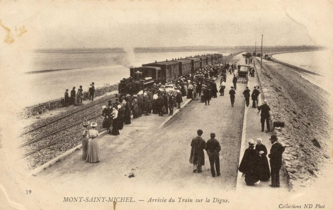Le Mont Saint michel à l'époque du train à vapeur Train-vapeur-mont-saint-michel-17-1080x683