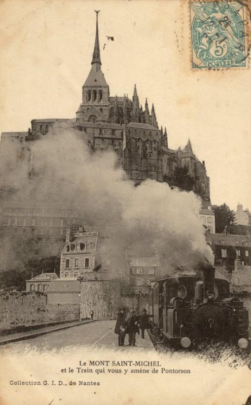Le Mont Saint michel à l'époque du train à vapeur Train-vapeur-mont-saint-michel-24-509x820