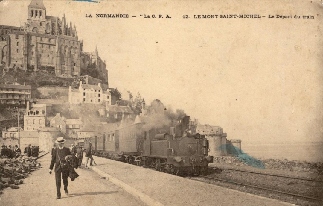 Le Mont Saint michel à l'époque du train à vapeur Train-vapeur-mont-saint-michel-25-1080x688