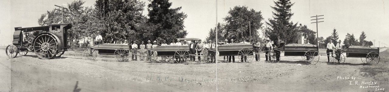 Des photos panoramiques anciennes de véhicules (Reportage photo) By Laboiteverte 26-MM-Cos-gravel-train-1913-1280x305