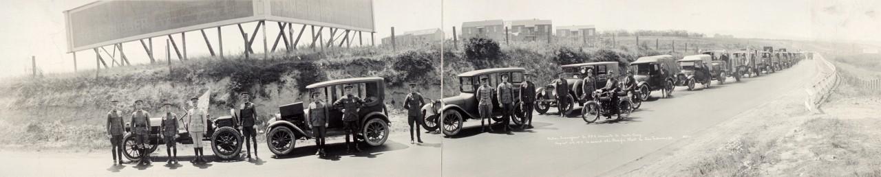 Des photos panoramiques anciennes de véhicules (Reportage photo) By Laboiteverte 30-Motor-Transport-Co-554-enroute-to-Santa-Cruz-August-29-1919-to-escort-the-Pacific-fleet-to-San-Fran-1280x258
