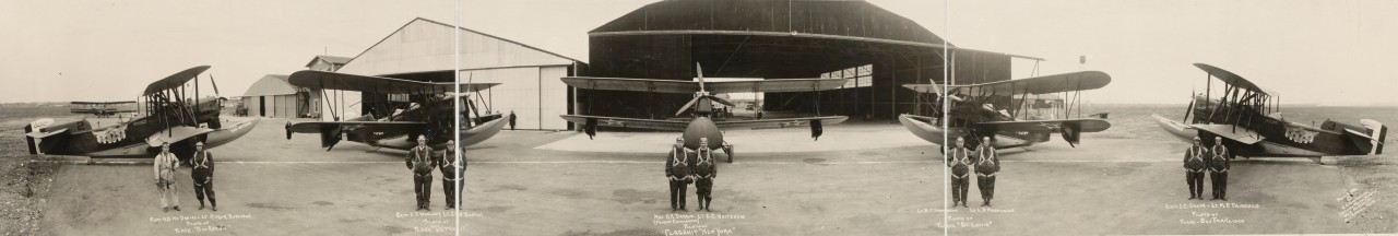 Des photos panoramiques anciennes de véhicules (Reportage photo) By Laboiteverte 31-Pan-American-flyers-and-ships-1927-1280x216