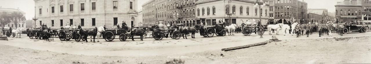 Des photos panoramiques anciennes de véhicules (Reportage photo) By Laboiteverte 32-Portland-Maine-Fire-Department-1-July-3-1920-1280x222