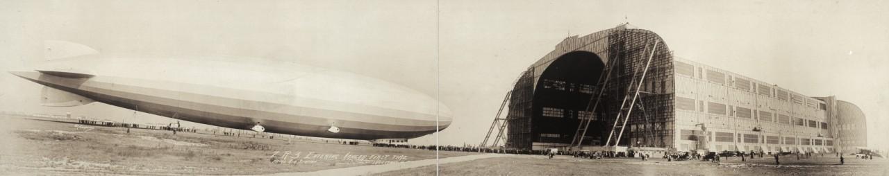 Des photos panoramiques anciennes de véhicules (Reportage photo) By Laboiteverte 43-ZR3-entering-hangar-first-time-Naval-Air-Station-Lakehurst-NJ-1924-1280x254