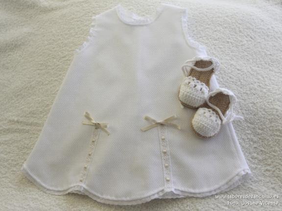 vestido - Alpargatas crochet + vestido piqué 1071402601188