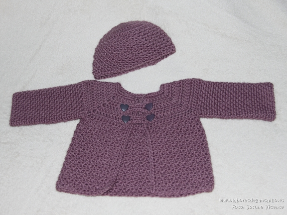 Conjunto bebé chaqueta + gorro 1841420803152