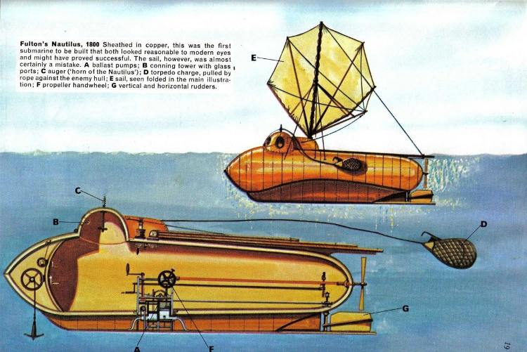 Un inventor de barcos de vapor y un intrépido capitán pretendieron liberar a Napoleón en submarino Submarino-rescatar-Napoleon