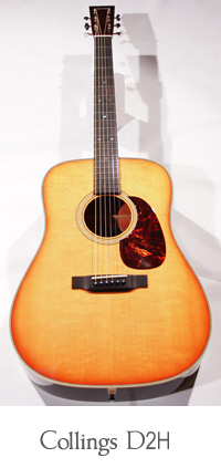 Collings D2H Acajou-sunburst en banc d'essai Collings-d2h-face-200