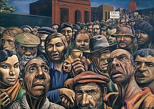 """""""La extensión del socialismo a escala mundial produjo el pánico entre las clases dominantes"""" - texto resumen de una conferencia del economista marxista Claudio Katz - año 2013 Thumb-berni_pan_y_trabajo"""