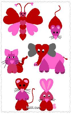 حيوانات من القلوب Kidscolor_alfant