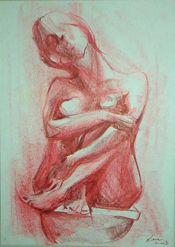 Grafika,crtež...  Moja-roze