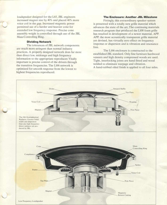 JBL L100 CENTURY et JBL L166 HORIZON Page3