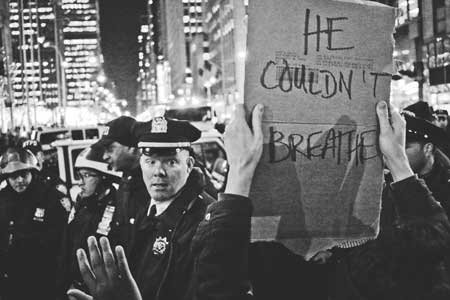 BREAKING Mass arrests in time square for Eric Garner  He-couldnt-breathe-450