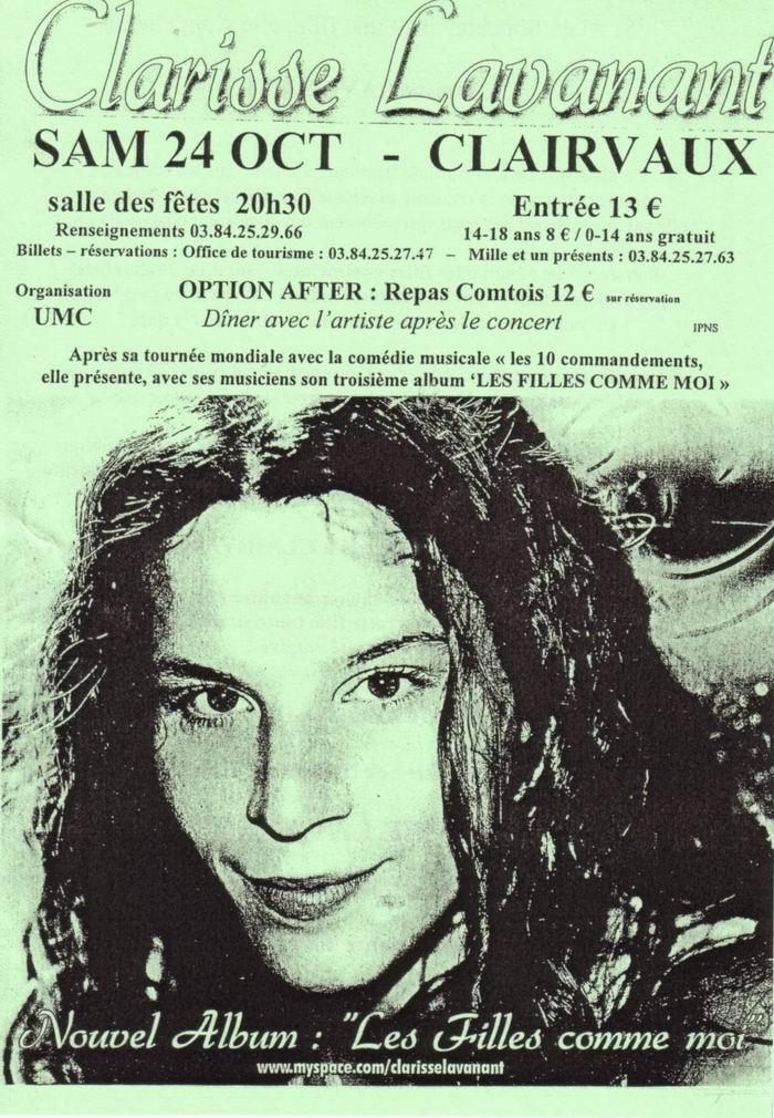 Clarisse Lavanant en concert à Clairvaux les Lacs (39) le 24-10-2009 2009-10-24_clarisse_lavanant_02