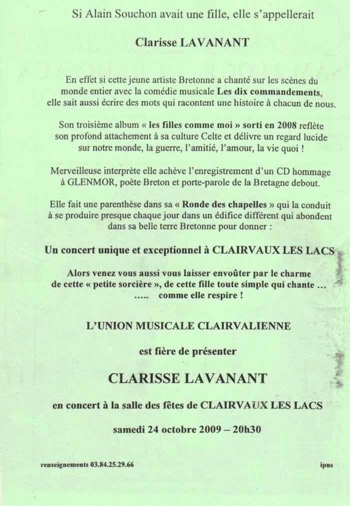 Clarisse Lavanant en concert à Clairvaux les Lacs (39) le 24-10-2009 2009-10-24_clarisse_lavanant_03