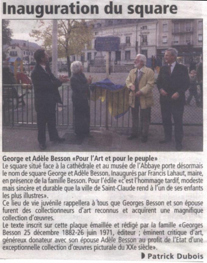 Mi novembre 2011, inauguration du square Georges et Adèle Besson 2011-11