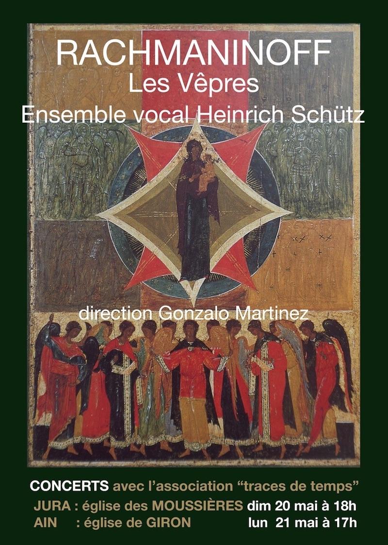 2018-05-20 : La chorale Heinrich SCHÜTZ - Eglise Des Moussières (39) 2018-05-20_Rachmaninoff_01